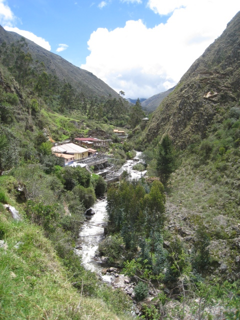 The Lares hot springs and campground. A gorgeous setting for team building!